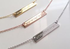 Coordinates Necklaces from Mignon & Mignon