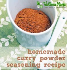 Homemade Curry Powder Recipe  Delicious homemade curry powder recipe with herbs and spices for a deep, sweet and spicy flavor that is great with chicken, vegetables, stir fry, and soup.
