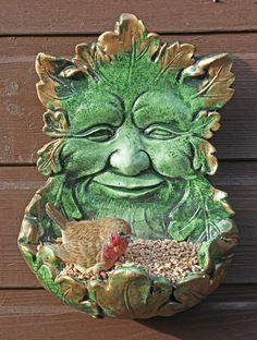 Alf Green Man feeder of the Birds