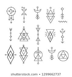Similar Images, Stock Photos & Vectors of Esoteric Alchemy Boho Bohemian Sacred . Similar Images, Stock Photos & Vectors of Esoteric Alchemy Boho Bohemian Sacred Geometry - 420496150 Graffiti Tattoo, Boho Tattoos, Cute Tattoos, Sacred Geometry Symbols, Sacred Geometry Tattoo, Geometric Shapes Art, Handpoke Tattoo, Tattoo Illustration, Tattoo Drawings