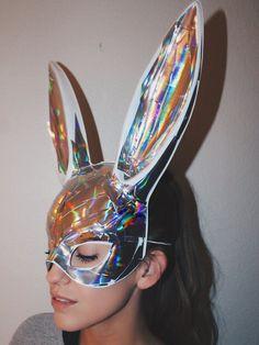 Strobe Bunny Mask | Space Boots X Oceanmoon