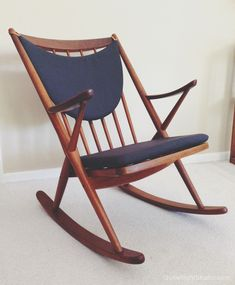 A beautiful refinish of a Frank Reenskaug Rocking Chair. I have one that needs this treatment.
