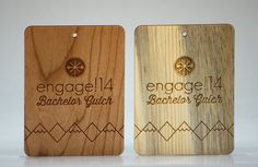 Unique engraved name tags. Wood Business Cards, Fort Collins, Wood Species, Laser Engraving, Bamboo Cutting Board, How To Memorize Things, Make It Yourself, Tags, Unique