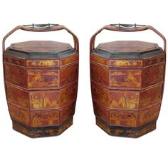 Chinese  Wedding Baskets   From a unique collection of antique and modern bowls and baskets at https://www.1stdibs.com/furniture/decorative-objects/bowls-baskets/