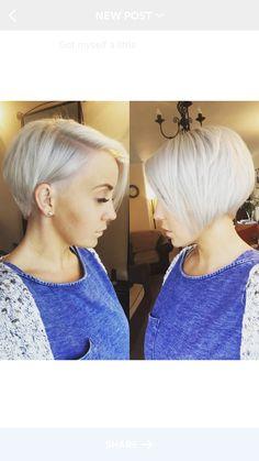 Haircut #undercut #bob #longpixiecut #whiteblonde