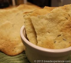 Sourdough Rosemary Lavash Crackers