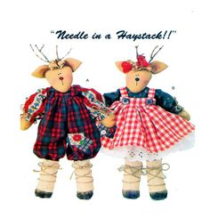 Soft Stuffed 17 Reindeer Doll Sewing Pattern by FindCraftyPatterns