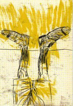 Georg Baselitz Mittags  - (A midi) 2004  - eau-forte- aquateinte et sucre 84.7 x 65.7cms