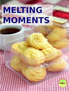 Melting moments - The 5 ingredients butter cookies (easy recipe) Butter Cookies Recipe, Almond Cookies, Yummy Cookies, Melting Moments Biscuits, Melting Moments Cookies, Dessert Dishes, Dessert Recipes, Chinese New Year Cookies, New Year's Desserts