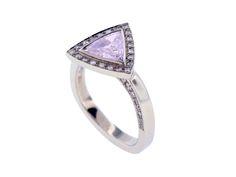 custom concept design contemporary trilliant lavendar sapphire