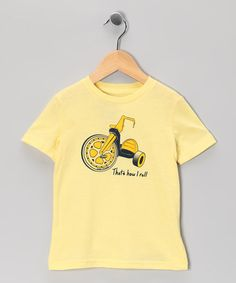 Take a look at this Light Yellow 'How I Roll' Tee - Toddler & Kids by Solid Threads on #zulily today!