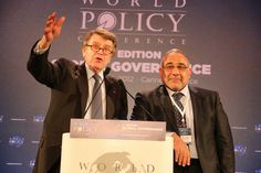 WPC 2012, Cannes - Thierry de Montbrial, President and Founder of the WPC; Adil Abd al-Mahdi, former Vice President of the Republic of Iraq