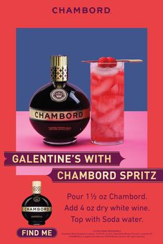 How to Make a CHAMBORD SPRITZ oz Chambord (raspberry) Liqueur 4 oz dry white wine Soda water Take a large wine glass and fill it up with ice. Add Chambord, white wine and soda. Bar Drinks, Cocktail Drinks, Cocktail Recipes, Beverages, Cocktails, Drinks Alcohol Recipes, Non Alcoholic Drinks, Holiday Drinks, Summer Drinks