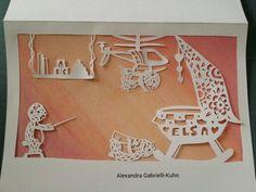 Hand papercut card