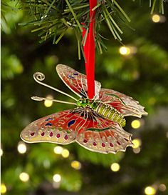"Dillard´s Trimmings Cloisonne 4.5"" Butterfly Ornament | Dillard's Mobile"
