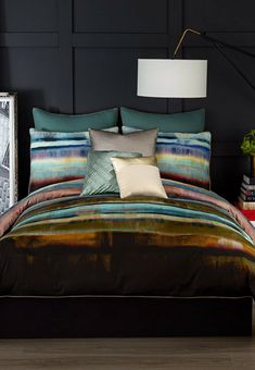 I love the colors of this beautiful Comforter Set with watercolor brush stroke design! NNT #Afflink #comforters #bedroom #gift #bedroomdecor #bedroomideas #bedroomdesign #homedecoration #homesweethome #giftideas #GIFTIDEA #christmasgifts comforter sets | comforter sets boho | comforter sets neutral | comforter sets rustic | comforter sets for couples | Gold Comforter Set, Queen Comforter Sets, Duvet Bedding, Duvet Sets, Duvet Cover Sets, Queen Duvet, Rustic Comforter, Gold Bedding, Striped Bedding