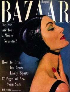 Harpers Bazaar, May 1958 | 10 Stunning Vintage Magazine Covers Featuring Carmen DellOrefice
