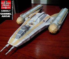 Noturno Sukhoi: Star Wars BTL-B Y-Wing Starfighter-bomber_Papercra...