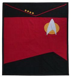 Star Trek Captain's Blanket. $129.00, via Etsy.