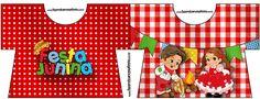 Convite Camisa Kit Festa Junina Vermelho e Branco