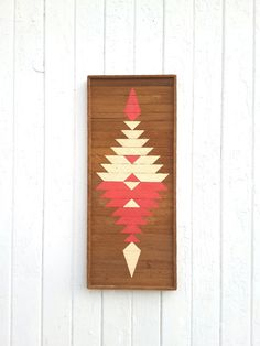 Reclaimed Wood Wall Art Zapotec Design Vintage by PastReclaimed