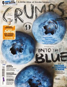 This cover has an indie attitude. The photo is as stunning as you can get for blueberries. They used a complementary color so the java module would stand out although i dont think it belongs in the first place because it disrupts the chill blue vibe. Graphic Design Inspiration, Graphic Design Art, Book Design, Typography Design, Print Design, Text Design, Magazine Cover Layout, Magazin Covers, Magazin Design