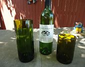 Upcycled Wine Bottle Glasses for Wedding or Restaurant  Large Quantities Available