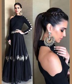 ideas cats design vintage for 2019 Western Gown, Western Dresses, Indian Dresses, Designer Gowns, Indian Designer Wear, Traditional Fashion, Traditional Dresses, Latest Gown Design, Halo