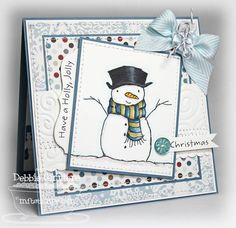 Holly Jolly Snowman (My Favorite Things Stamps)   Wish I would have had time to make this little man for my cards. From Splitcoaststamps website.