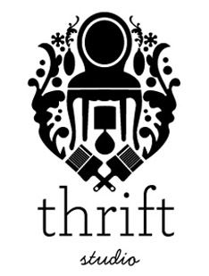 """""""thrift studio"""" logo - re-purposed furniture, lamps and paintbrushes all integraged Illustration Inspiration, Graphic Design Inspiration, Design Ideas, 2 Logo, Logo Branding, Identity Design, Logo Design, Logo Luxury, Poster Art"""