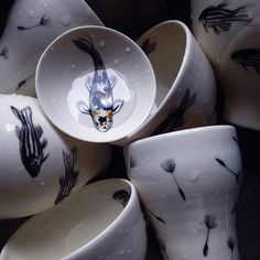Inspired By Nature, I Paint Delicate Fish On Porcelain | Bored Panda