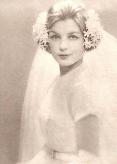 Original tocado  de #novia, #vintage Toda una inspiración para Grace!