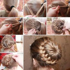 """@howtopics: French braided bun #tutorial pic.twitter.com/9hSB46Gzfx"""