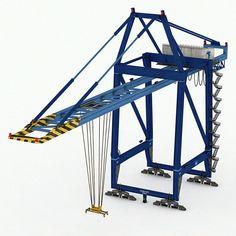 3D Model Port Container Crane Industrial - 3D Model
