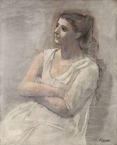 Mongol dreamscapes (Pablo Picasso (1881-1973), Woman in White, 1923.)