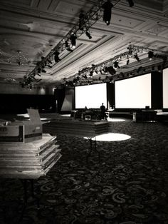 The calm before the storm... Setting up for tonight's event in Las Vegas!! #lasvegas #event #blackandwhite