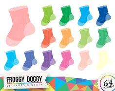 Baby Sock Clipart, Baby Shower Clipart, Children Clipart, Toddler Clipart, Nursery Clipart, Planner Clipart, Scrapbooking Cliparts