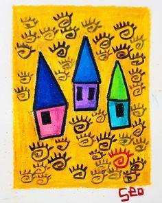 """좋아요 83개, 댓글 5개 - Instagram의 Youyeong.Seo(@blibla_art)님: """". 나 어릴 적에. When I Was Young. . . . #thumbnail #painting #doodles #doodling #낙서 #colorful #drawing…"""""""
