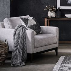 A cosy throw adds instant warmth for these chilly winter nights. All throws are now off in our biggest ever sale. Hurry, ends Monday! Freedom Furniture, Sofa Furniture, Living Room Furniture, Fabric Armchairs, Fabric Sofa, Green Velvet Sofa, Sofa Inspiration, Blue Home Decor, Freedom Design