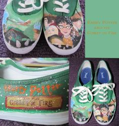 This is cute but it would also be easy to make yourself. You could just take some green Keds, get some acrylic paint or any other paint that doesn't wash off, and paint that design on the shoes.