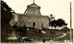 Década de 30 - Igreja do Calvário, no bairro de Pinheiros, sem a torre do campanário.