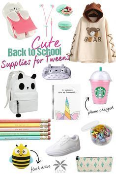 Back to School Supplies Middle School 2018 Best back to school supplies for middle school tweens! Your tween girl will love these 12 super cute supplies and show off her unique style. A fun list that my middle school girl put together herself! Middle School Supplies, Middle School Hacks, Diy School Supplies, Middle School Clothes, School Looks, Tween Fashion, Junior Fashion, Fashion Clothes, Fall Fashion
