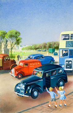 Illustration from Tootles the Taxi and other Rhymes, (c) Ladybird Books Ltd, 1956