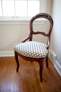 Loiret Balloon Back Chair  Pretty Parlor Chair