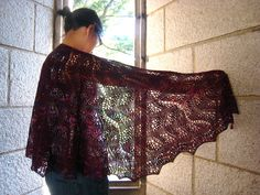 Ravelry: Japanese Feather and Fan Shawl by IzzyKnits