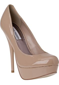 STEVE MADDEN SHOES: classic nude pumps!