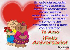 tarjetas de aniversario de casados   postales de aniversario de frases de amor para el facebook Love You, Anniversary, Lily, Facebook, Google, Happy Brithday, Teen, Anniversary Cards, Birthday Congratulations
