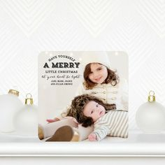 Go with the 'Preppy Merry'  Holiday Photo Cards. It's sure to make your family photo shine!