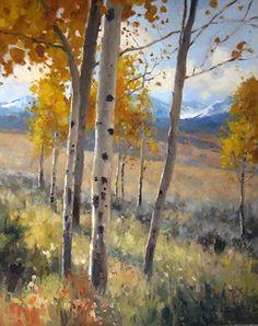 Autumn Stillness by Kate Kiesler Oil ~ 30 x 24