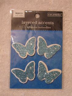 COLORBOK LAYERED ACCENTS BUTTERFLIES  STICKER